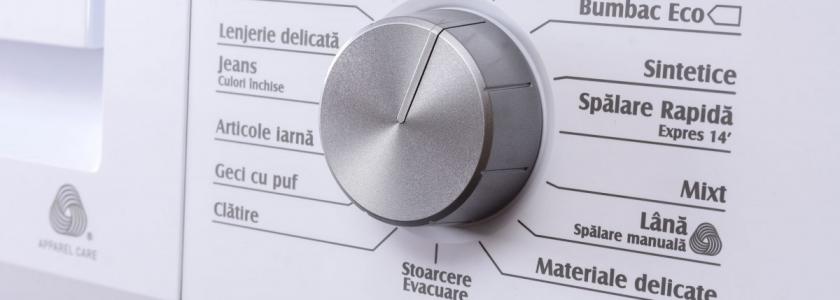 Cum alegi corect programul de spălare al mașinii de spălat?