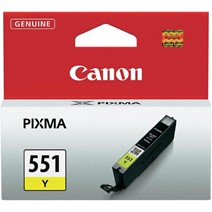 Cartus cerneala Canon CLI-551Y, yellow, capacitate 7ml