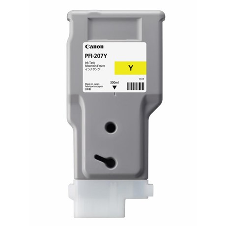 Cartus cerneala Canon PFI-207Y, yellow, capacitate 300ml