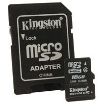 Kingston Micro Secure Digital Card 16GB SDHC Clasa 4