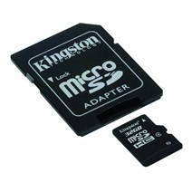 Card memorie Kingston Micro SDHC 32GB Clasa 4 + Adaptor SD