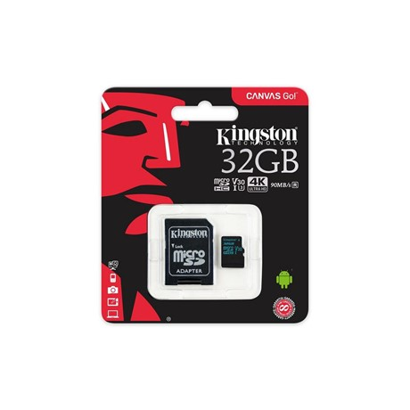 Card de Memorie MicroSDHC Kingston, 32GB, CLASS 10 UHS-I, 45/10 MB/s, adaptor SD