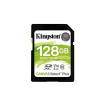 Card de Memorie SD Card Kingston, 128GB, Canvas Select Plus, Clasa 10 UHS-I, R/W 100/85 MB/s, Format: exFAT
