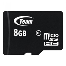 Card de Memorie MicroSD Team Group, 8GB, Clasa 10, Read 20 MB/s, Write 14MB/s