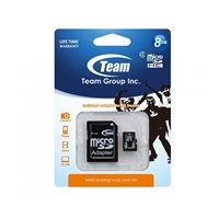 Card de Memorie MicroSD Team Group, 8GB, Clasa 4, Read 13MB/s, Write 5MB/s