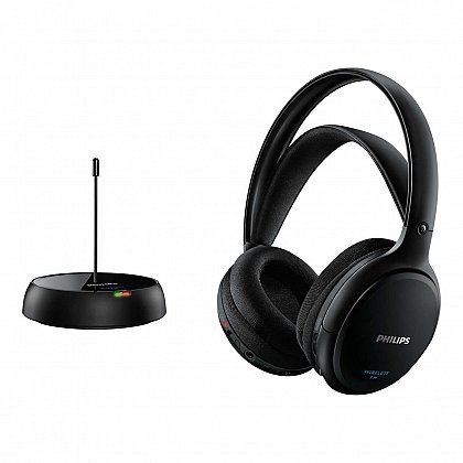 Casti audio wireless HiFI Philips SHC5200/10, frecventa FM, Negru