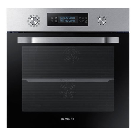 Cuptor incorporabil Samsung NV66M3531BS, Electric, Dual Cook, 66 l, Curățare catalitică, LED display albastru, Butoane retractabile, Inox