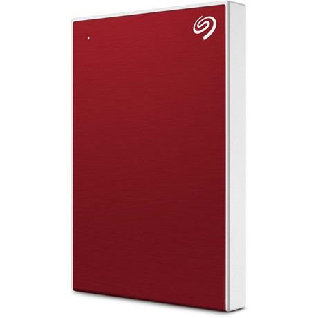 "HDD extern Seagate, 4TB, Backup Plus Portable, 2.5"", USB 3.0, Textura metalica, Rosu"