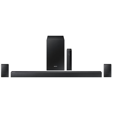 Soundbar Samsung HW-R470, 240 W, 4.1, Subwoofer wireless, Wi-Fi, Bluetooth, Negru