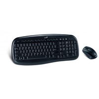 Kit tastatura si mouse Kit Tastatura&Mouse Wireless Genius KB-8000X Black