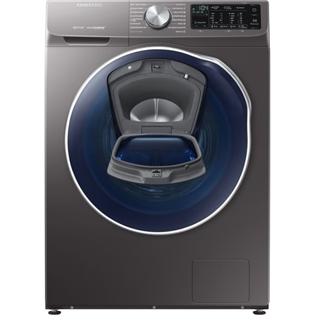 Mașină de spălat rufe cu uscator Samsung QuickDrive™  WD90N642O2X, 9 kg/5 kg, 1400 rpm, Display LED, AddWash, Eco Bubble, Child Lock, Clasa A, Inox