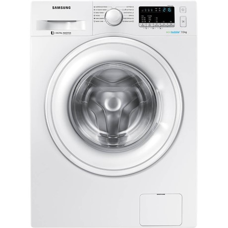 "Mașină de spalat rufe Samsung Eco Bubble WW70K42106W, 7 kg, 1200 rpm, Display LED, Eco Bubble, Smart Check, Funcție ""Child Lock"", 45 cm, Inverter, A+++, Alb"