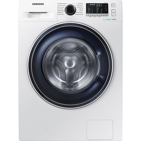 Masina de spalat rufe Samsung Eco Bubble WW80J5545FW, 8kg, 1400rpm, A+++, Display, Alb