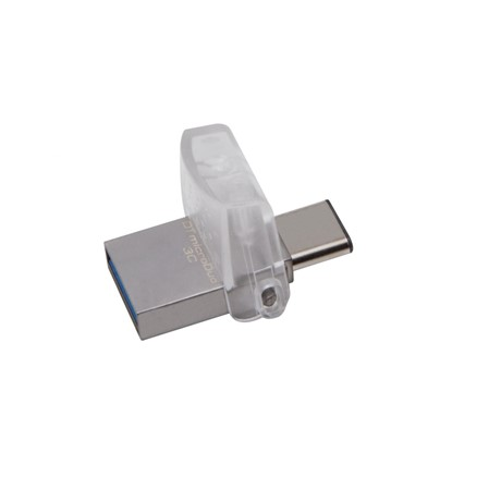 Memorie USB Flash Drive Kingston 128GB DT MicroDuo, USB 3.0, micro USB 3C