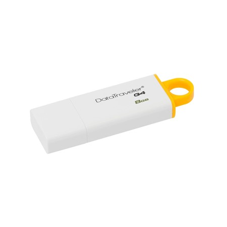 Kingston DataTraveler DTIG4 Flash Drive, 8 GB, USB 3.0, alb-galben