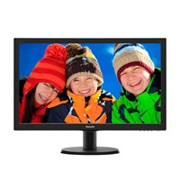 "Monitor W-LED Philips 243V5LHSB/01, 23.6"", Full HD, 5 ms, VGA, DVI-D, HDMI, Smart Control Lite, Negru"