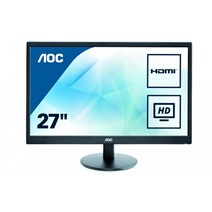 "MONITOR AOC E2775SJ, 27"", HDMI, D-SUB, DVI, VESA, Speakers, Black"