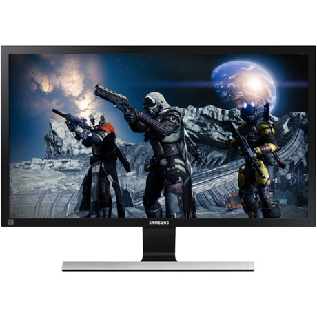 "Monitor LED Samsung LU28E570DS/EN, 28"", 4K, 1 ms, 60 Hz, HDMI, Display Port, Jack, Negru/Argintiu"