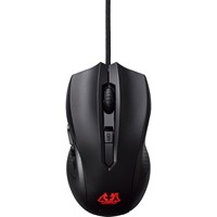 Mouse Asus cu fir, optic, CERBERUS BLACK, 2500dpi, negru, 6 butoane, USB