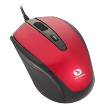 Mouse Serioux Pastel 3300, USB, Red