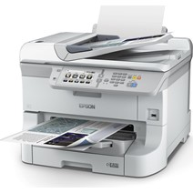Multifunctional inkjet color Epson Workforce WF-8590DWF, dimensiune A3+ (Printare, Copiere, Scanare, Fax), duplex, viteza 34ppm alb-negru si color, rezolutie 4800x1200 dpi, limbaj de printare: PCL6, PCL5c, PCL5e, ESC/P-R, Adobe Postscript 3, PDF 1.7, alim