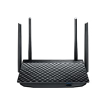 Router wireless Asus Wi-Fi Gigabit AC1300 Dual-Band RT-AC58U, IEEE 802.11a, IEEE 802.11b, IEEE 802.11g, IEEE 802.11n, IEEE 802.11ac, IPv4, IPv6, 4 antene externe, Tehnologie MIMO