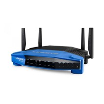 Router Wireless Linksys WRT1900ACS, 1xWAN Gigabit, 4xLAN Gigabit, 2.4-5 GHz, 4 antene detasabile, dual-band AC1900 (1300/600Mbps), 1xUSB3.0, 1xUSB 2.0/eSATA combo