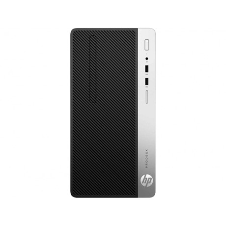 Sistem Desktop HP ProDesk  400 G6 Microtower, Intel Core i3-9100, RAM 8GB, SSD 256GB, DVD+/-RW, Windows 10 Pro 64-bit
