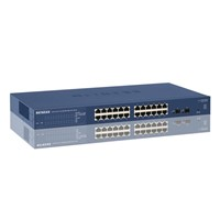 Switch Netgear GS724T, cu management, 24x100/1000Mbps-RJ45 + 2xSFP