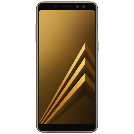Telefon mobil Samsung Galaxy A8 (2018) Dual Sim 5.6'', Gold,  4G, RAM 4GB Stocare 32GB, Camera 16MP+8MP/16MP