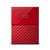 HDD Extern WD My Passport, 2TB, 2,5 USB 3.0, Rosu