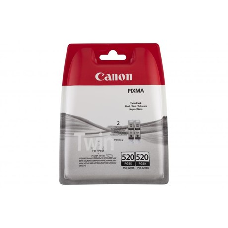 Kit Cartus Cerneala Canon PGI-520 Twin Pack Black - BS2932B009AA
