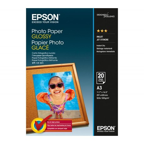 Photo Paper Glossy A3, 20 sheets, 200g/m2