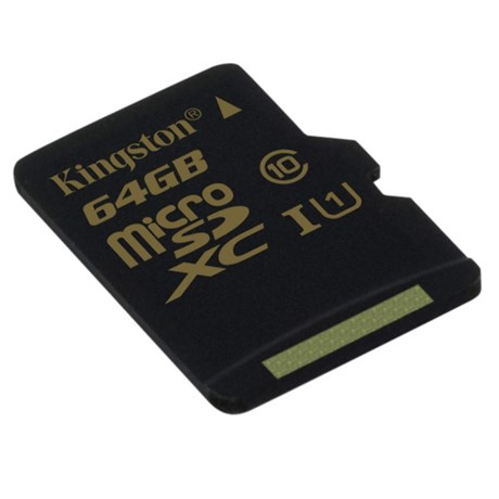 Memory Card Kingston microSDXC 64GB, class 10 UHS-I + Adaptor