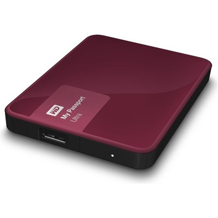 "HDD extern WD, 500GB, My Passport Ultra, 2,5"", USB 3.0, maro"