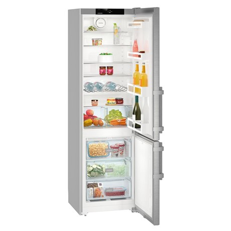 Combina frigorifica Liebherr CNef 4015, 356 L, No Frost, Display, Control electronic, Alarma usa, Raft sticle, SuperCool, H 201.1 cm, A++, Inox, finisaj Antiamprenta