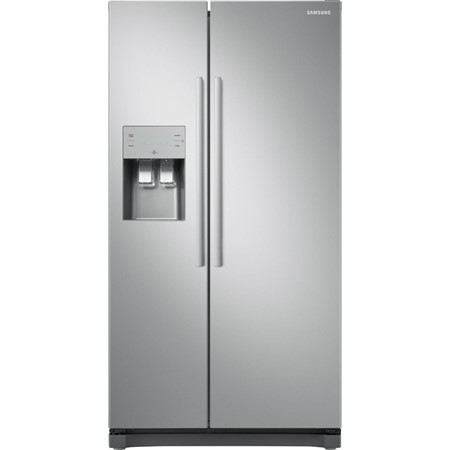 Frigider Side by Side Samsung RS50N3513SA, 501l, Clasa A+, Full No Frost, Inverter, Display, Dispenser, H 178cm, Metal Graphite