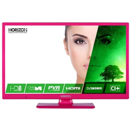 Televizor LED Horizon 24HL7122H, 61 cm, HD Ready, Slot CI+, Hotel TV Mode, Roz