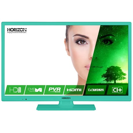 Televizor LED Horizon 24HL7123H, 61 cm, HD Ready, Slot CI+, Hotel TV Mode, Verde